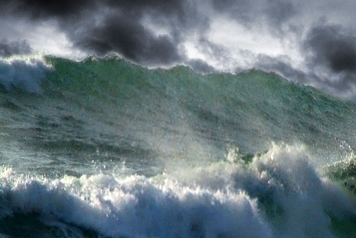 Raging Storm At Sea